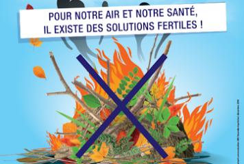 Le brûlage des déchets verts à l'air libre, c'est interdit !