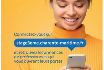 """Département de la Charente-Maritime : Opération """"Stages découvertes 3ème"""""""